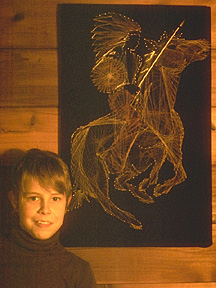 "Rob's string-art ""Ghost Rider"""
