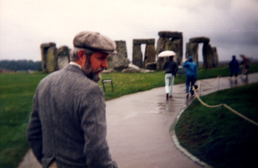 at home in the rain - Stone Henge
