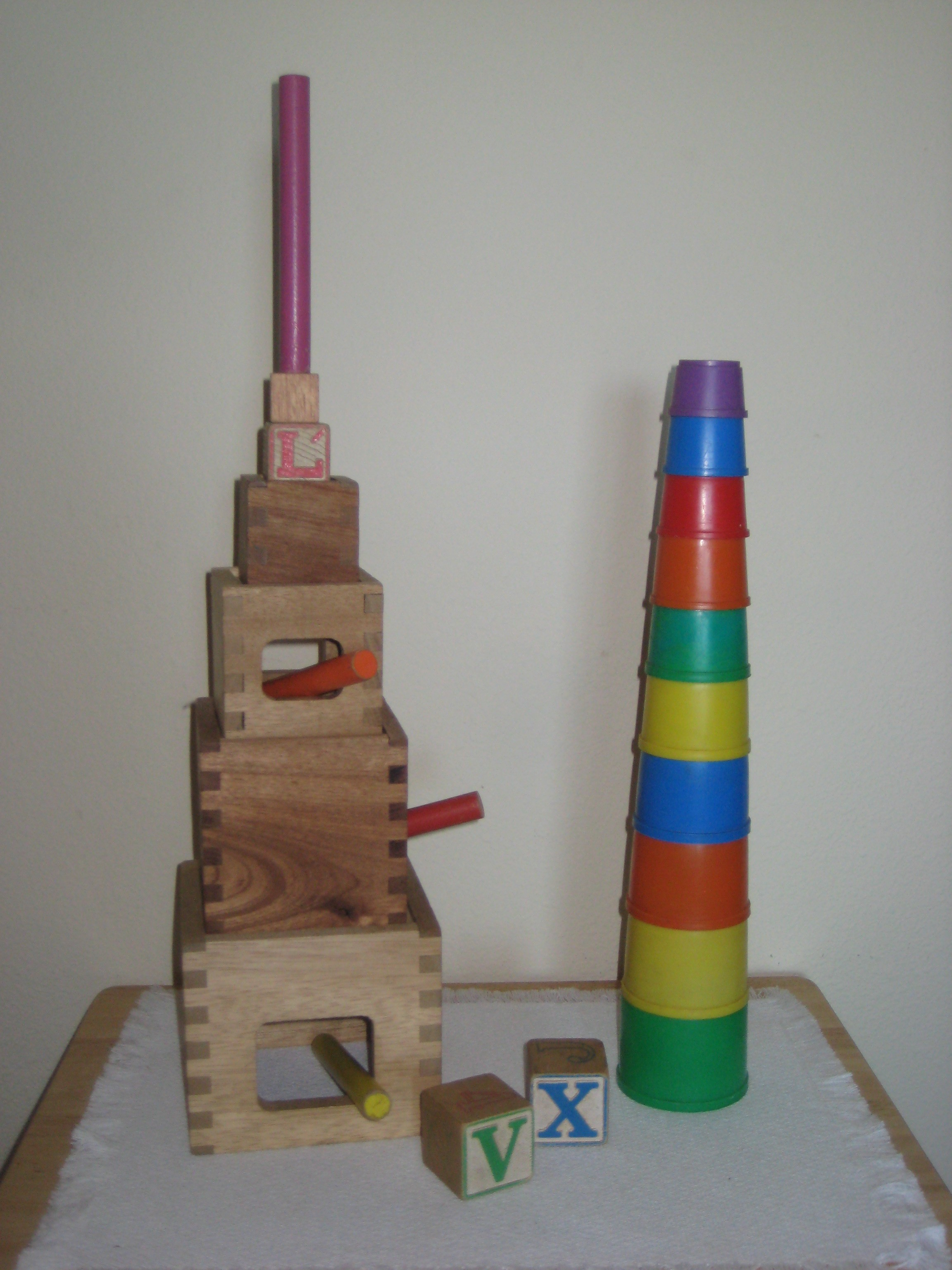 Towering Cups and Boxes