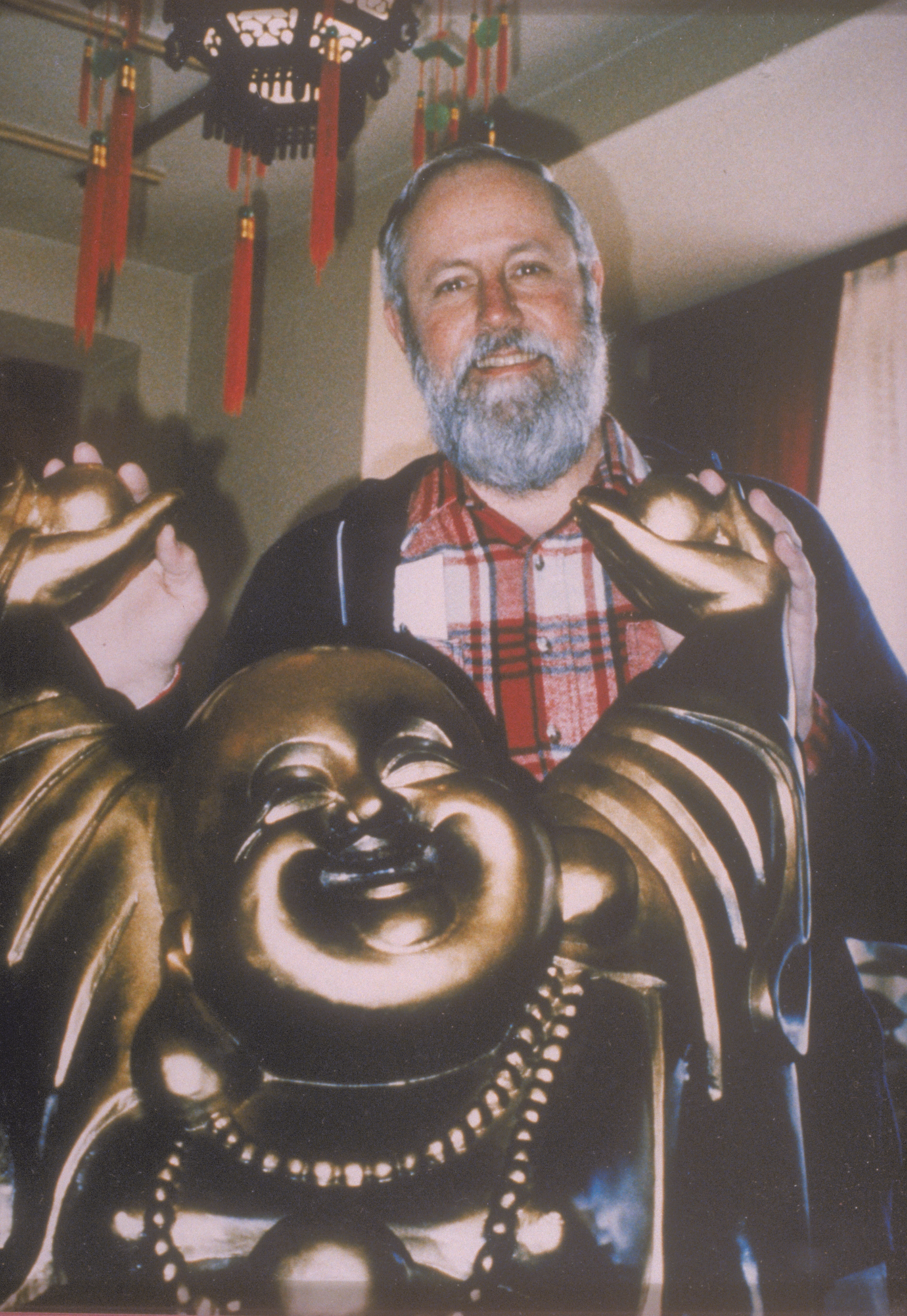 Bob with Laughing Buddha, Waldshut, Germany