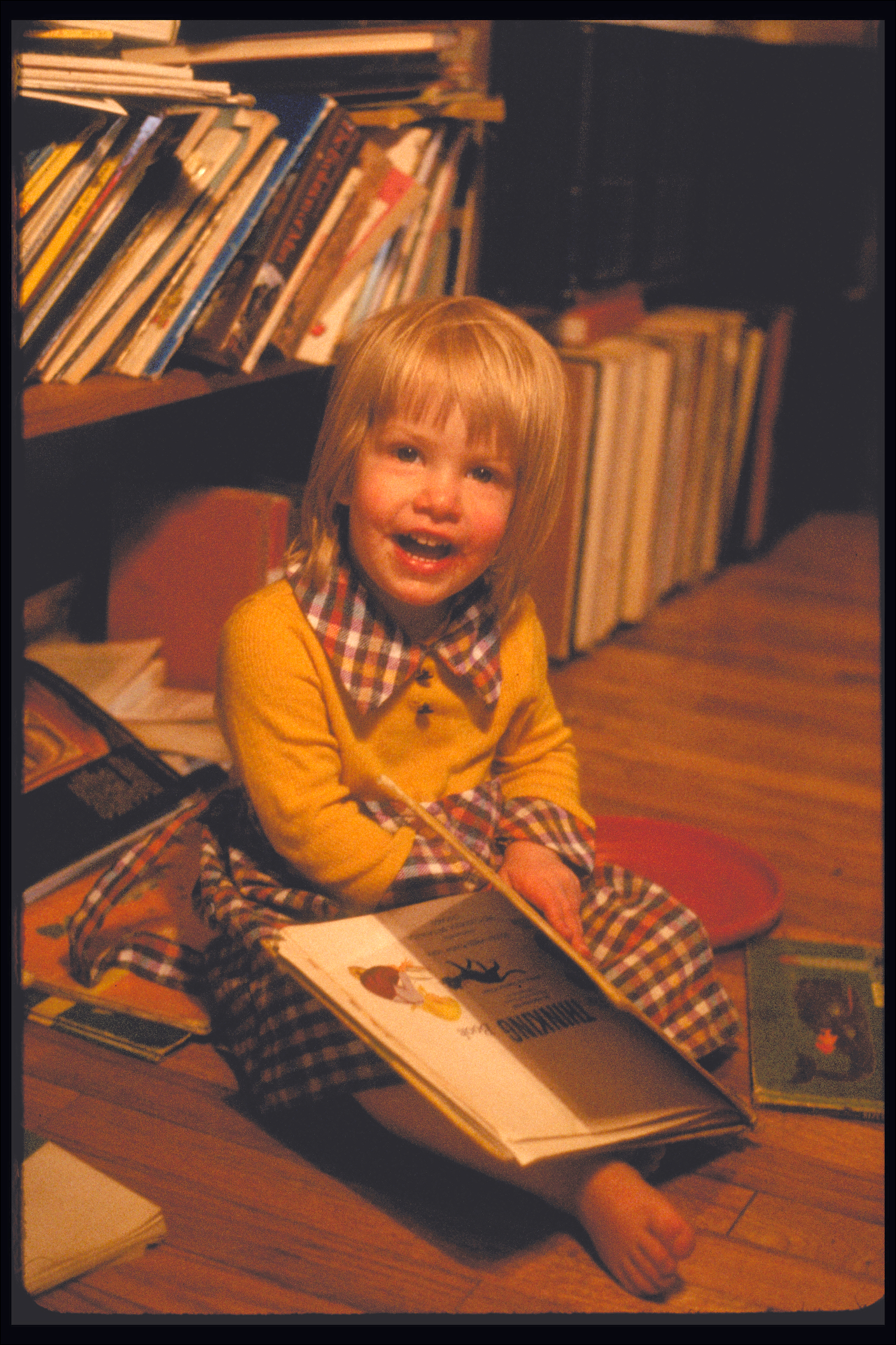 Peggy In Her Library, 1981