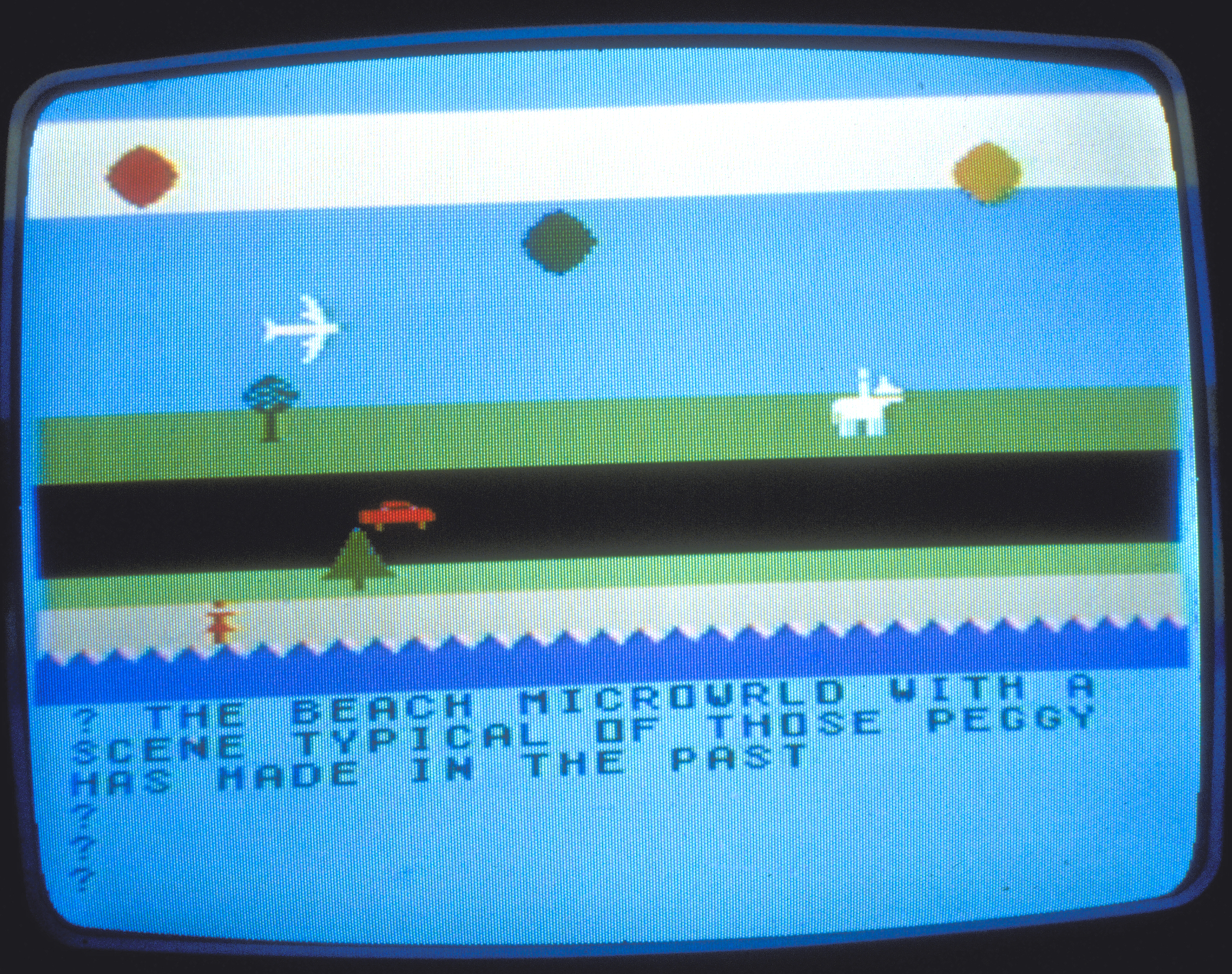 A Typical Scene in Peggy's Beach World, 1983