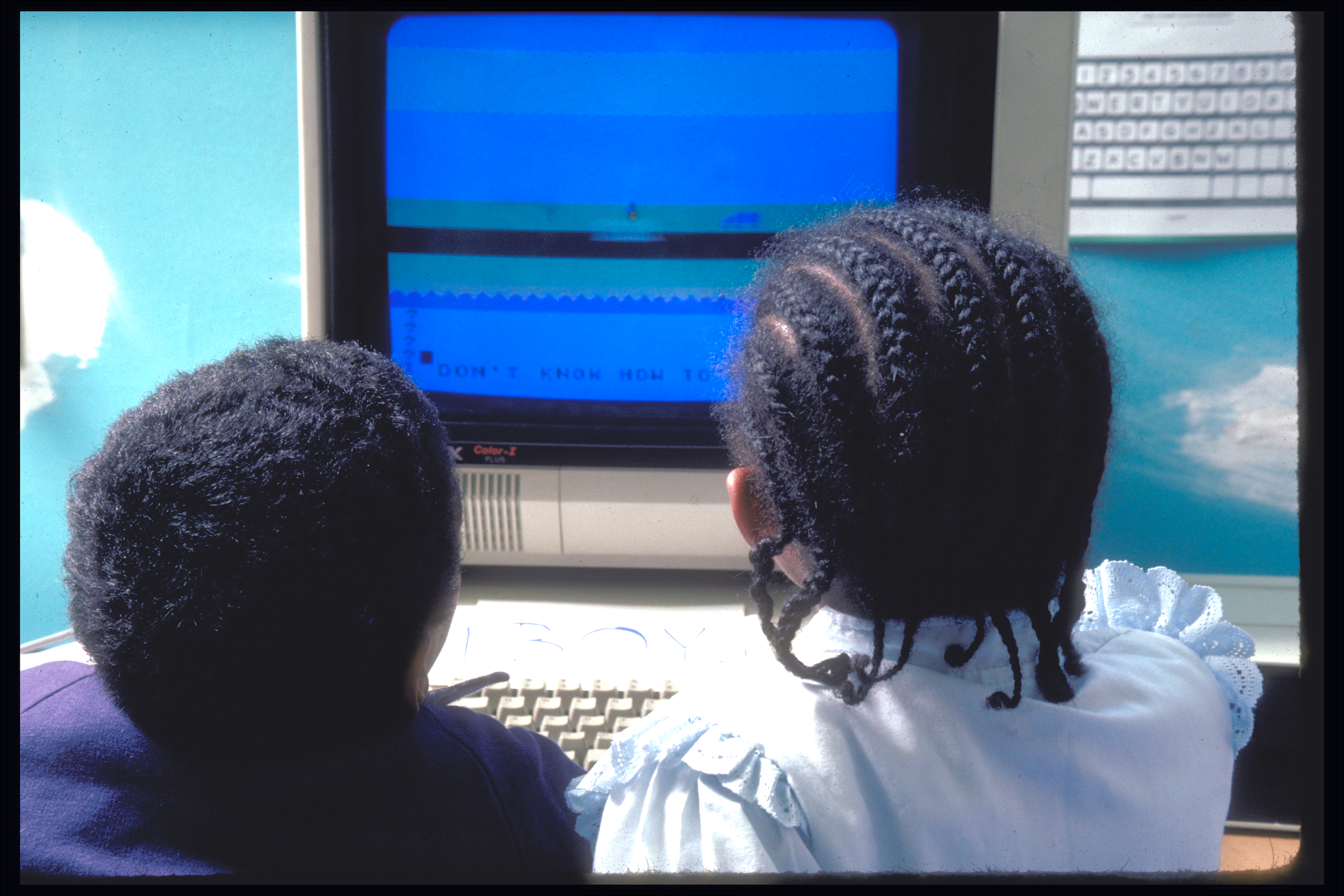 Headstart Kids using the Beach Microworld, 1988-89