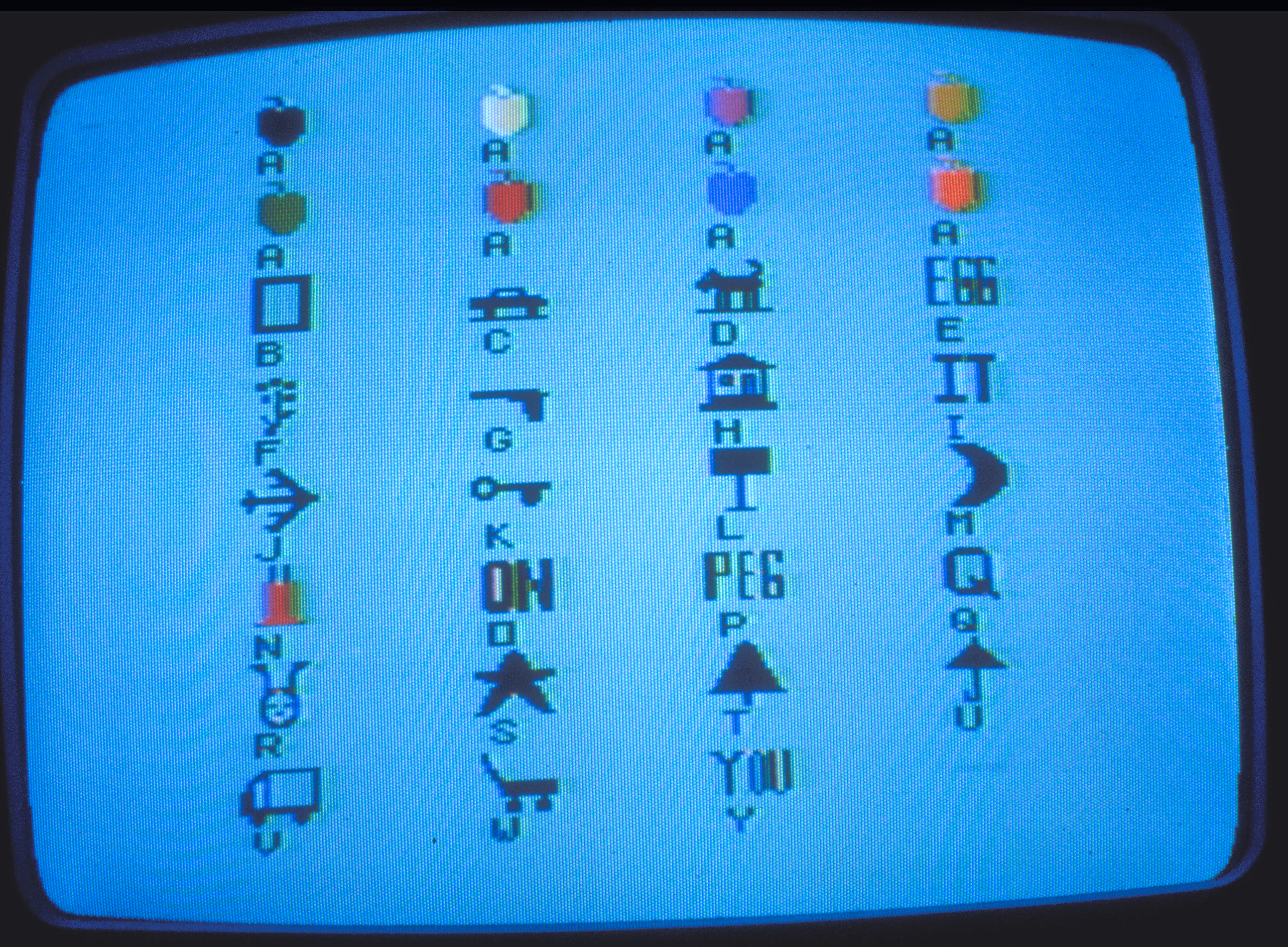 Letters & Images of Peggy's ABC Microworld, 1981-82