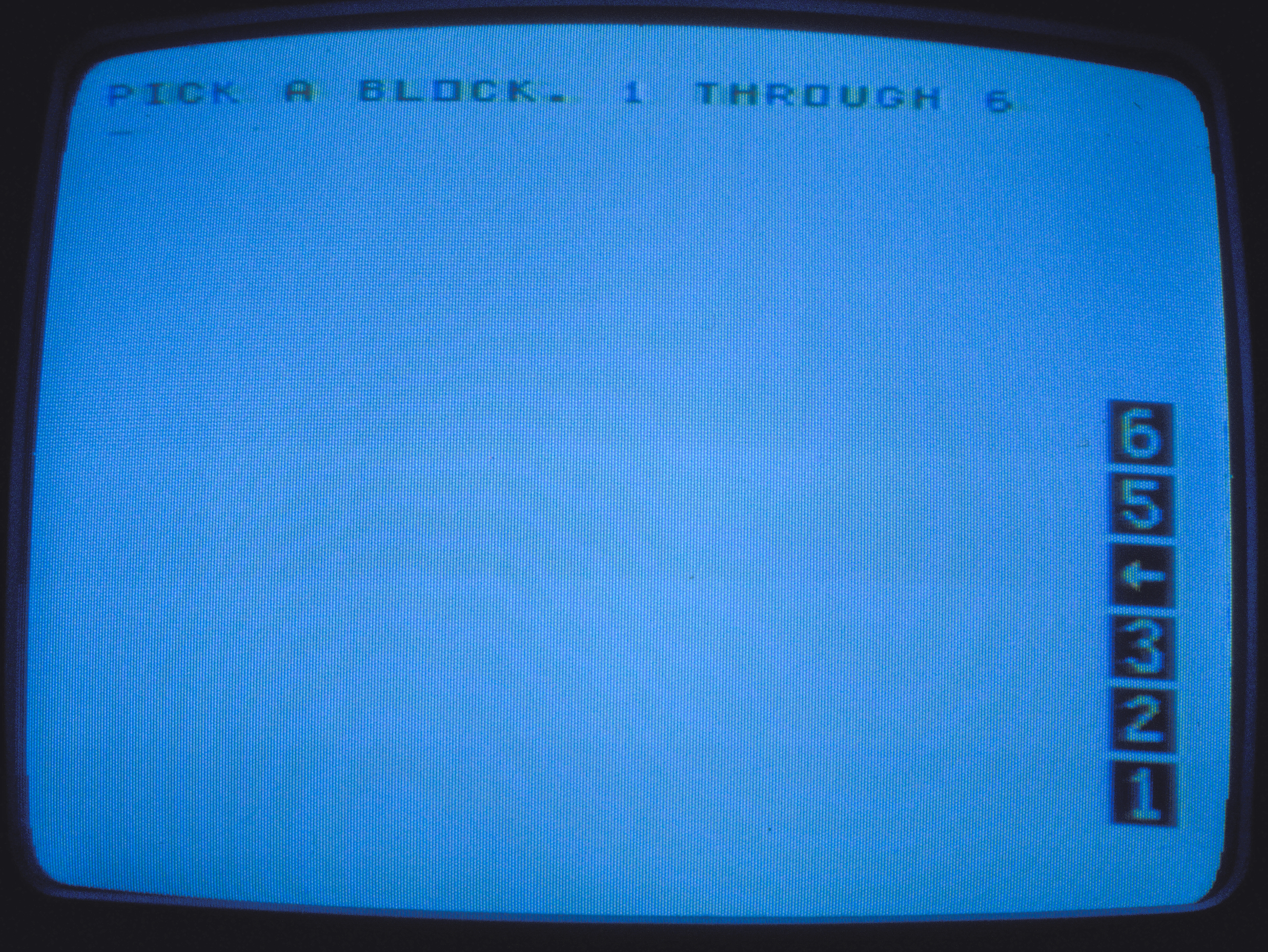 Peggy's BLOCKS world, 1981. Numbers used as names.