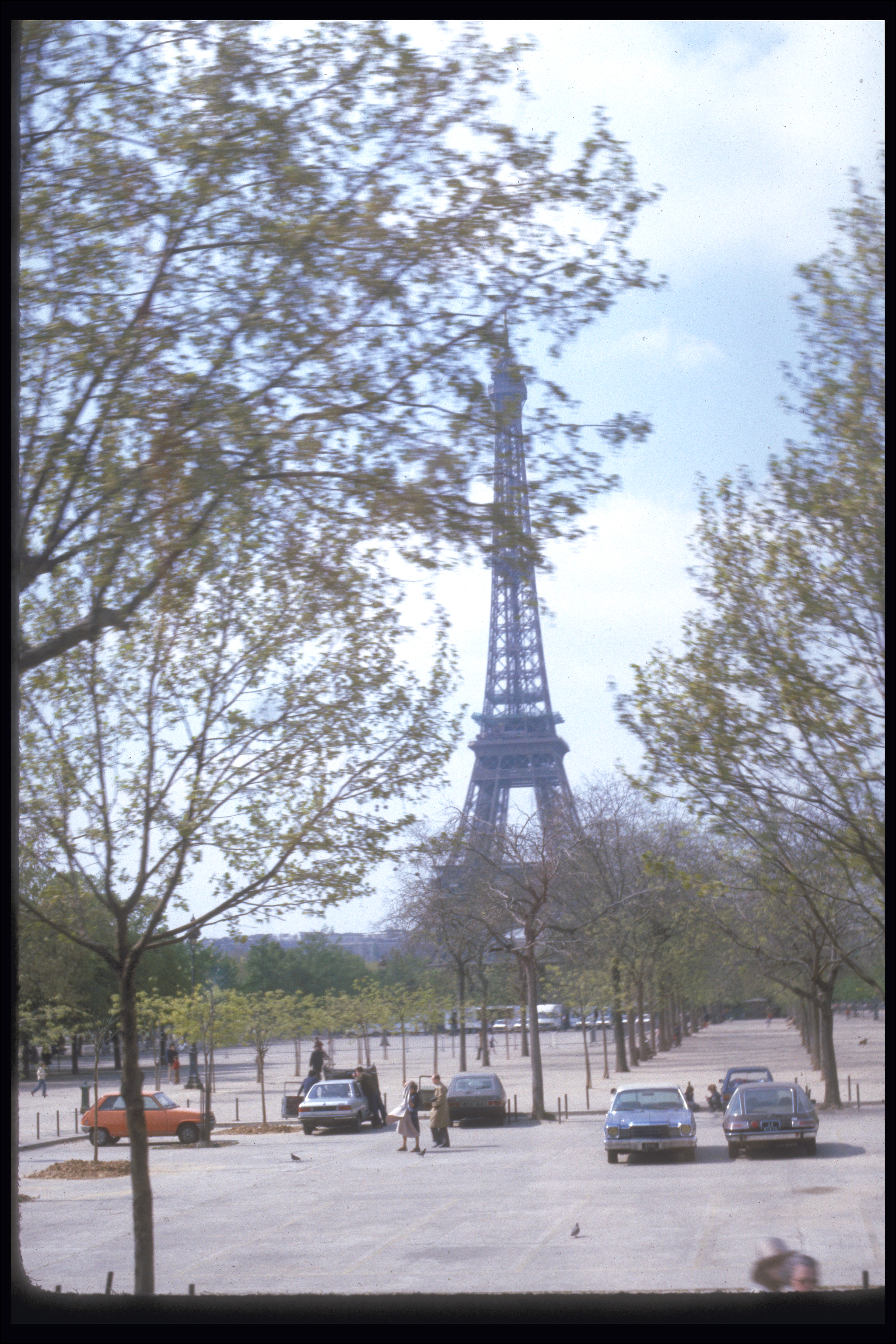 Eiffel Tower. Paris in the spring, 1983