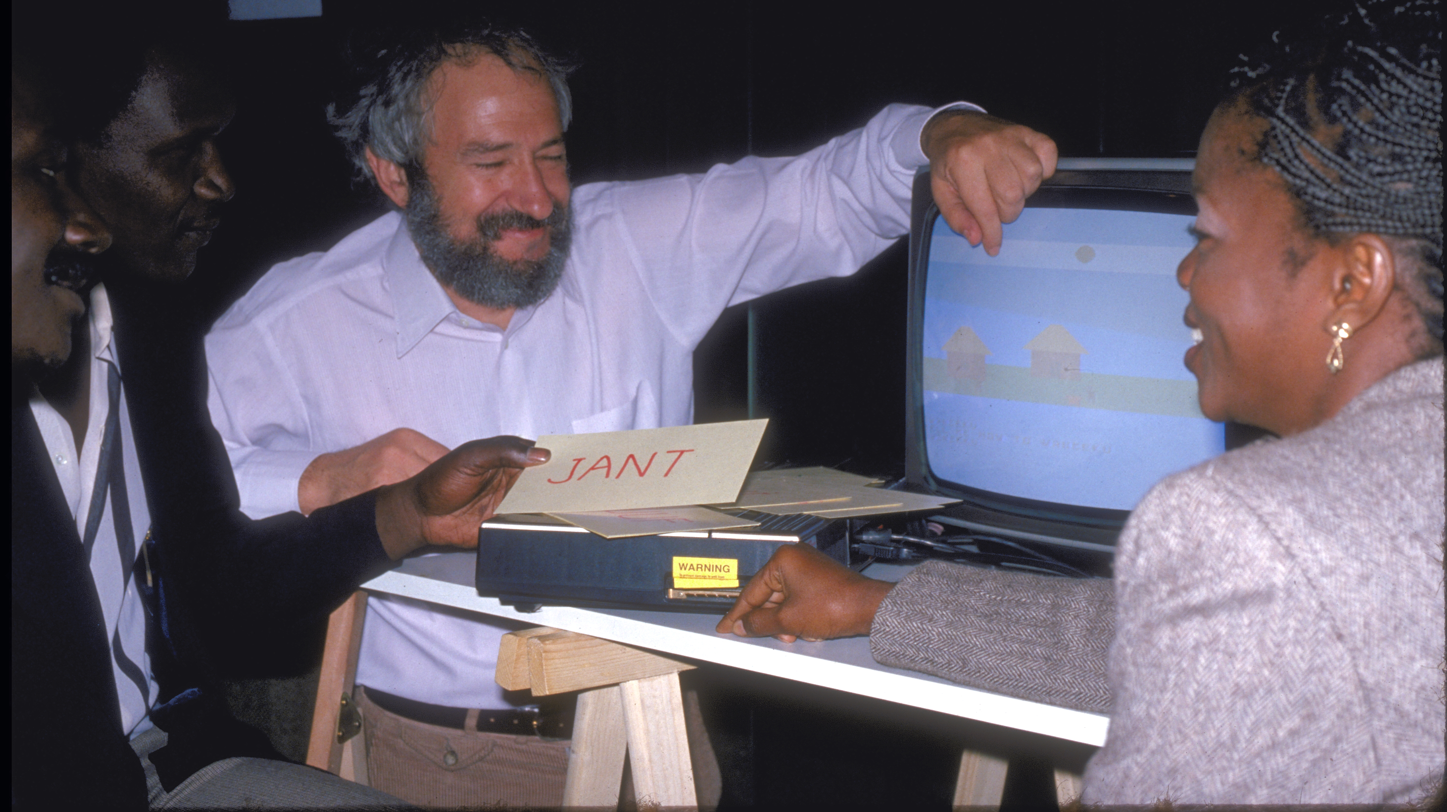Seymour Papert And Senegalese Project Members, Paris, 1982