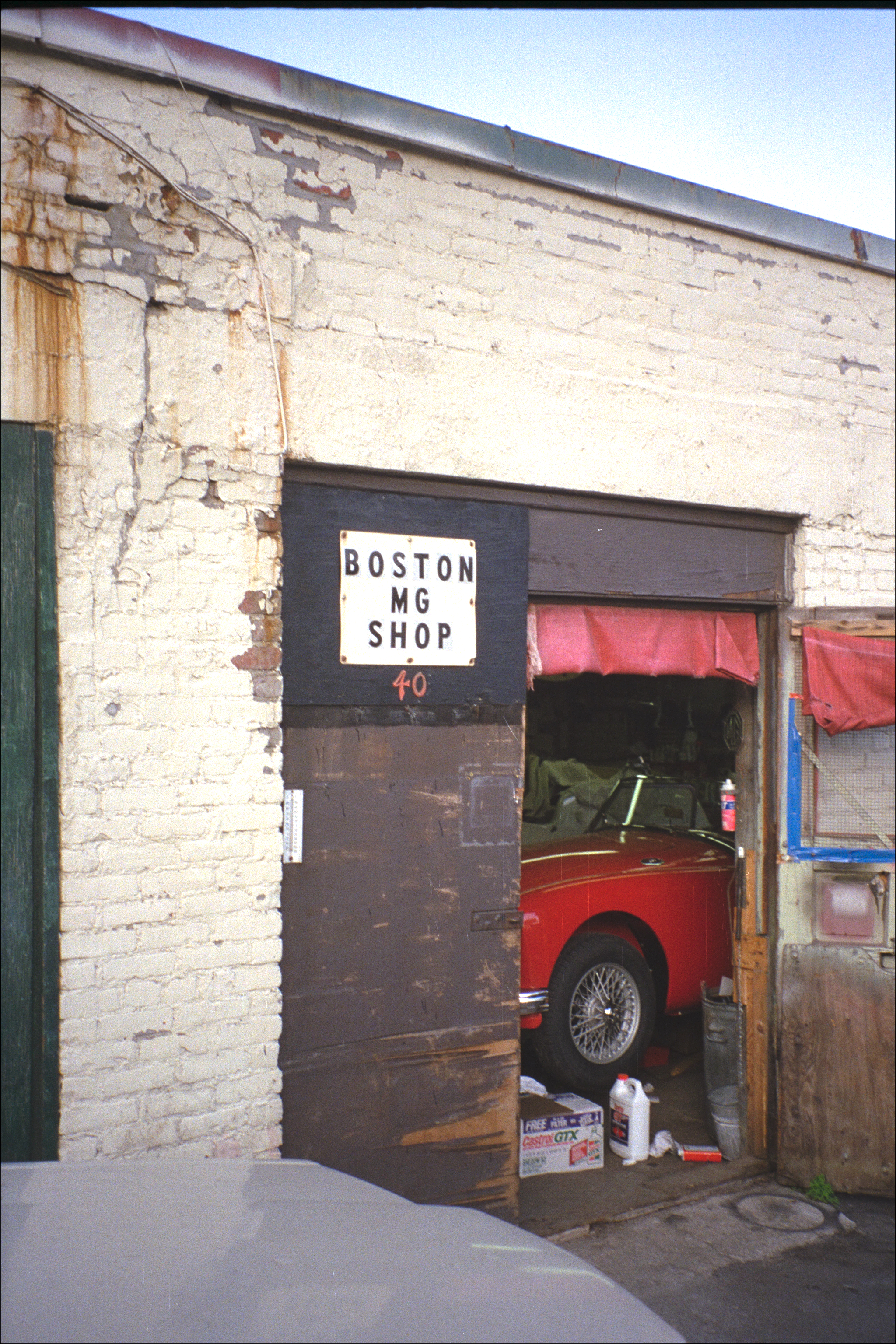 IMG2026 The Boston MG Shop, in Brighton in those days