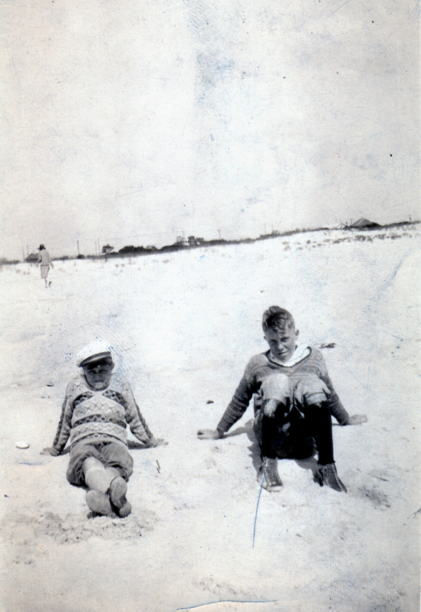 BobDad6: Martin R. Lawler at 13, at the beach, with sister Lillian