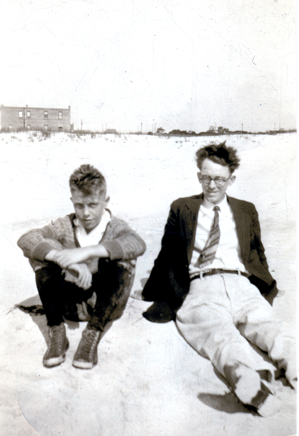 BobDad7: Martin R. Lawler at 13, at the beach with his father