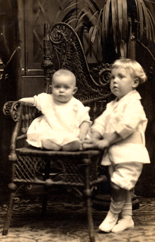 BobDad3: Martin R. Lawler at 3, with sister Lillian