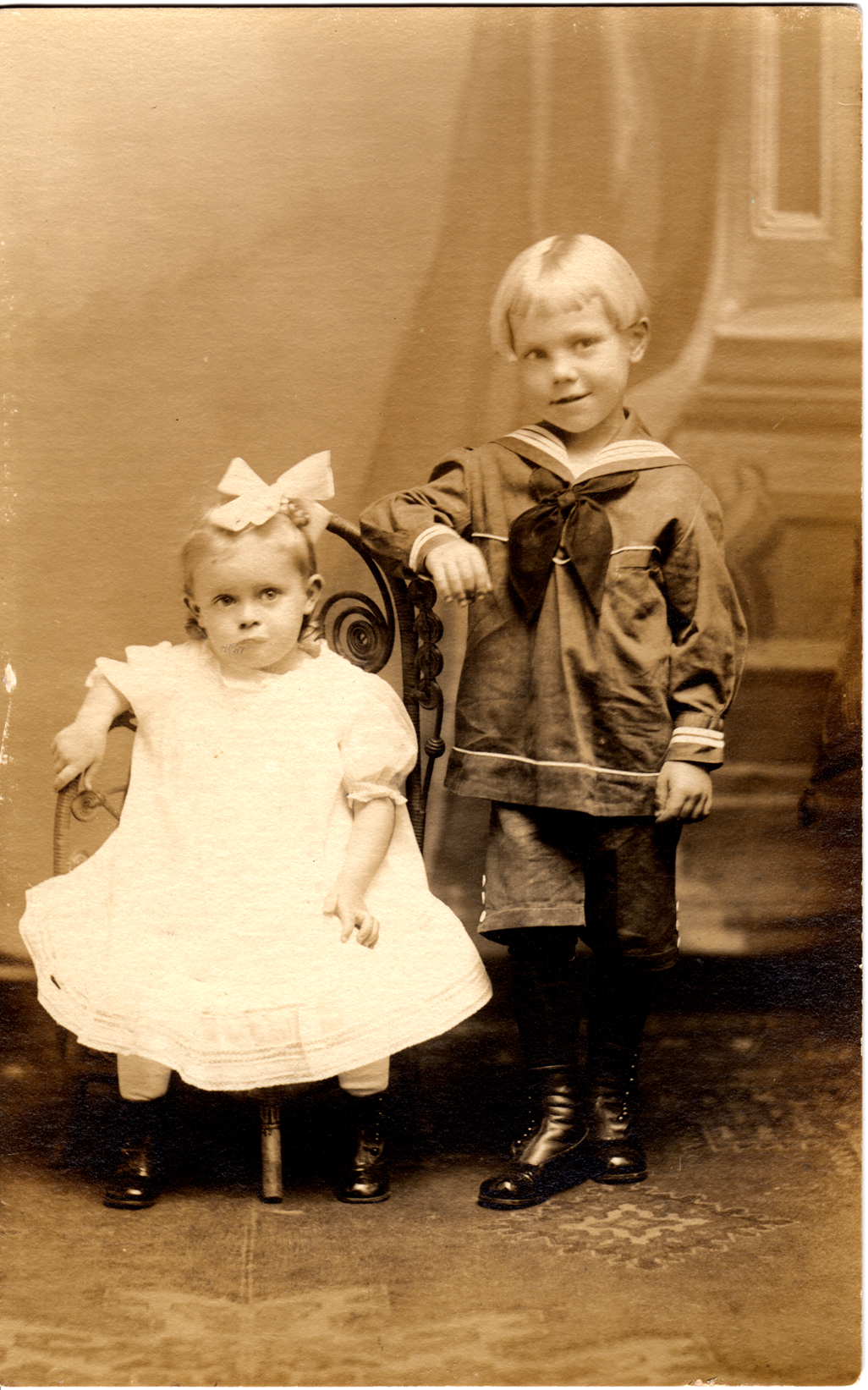 BobDad4: Martin R. Lawler at 4, with sister Lillian