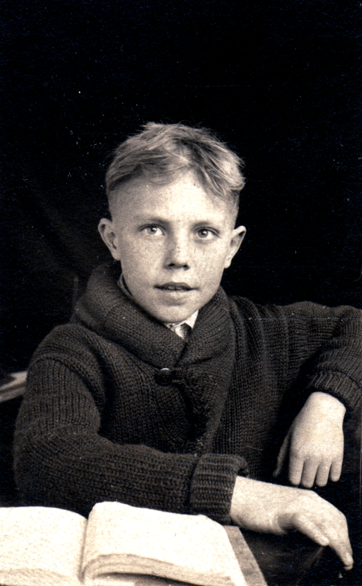 BobDad5: Martin R. Lawler at 7 in school, in 1921