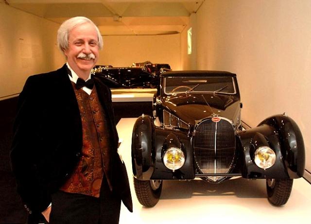 BobPics6: Bob near 64, with 1939 Bugatti Atlantic Coupé