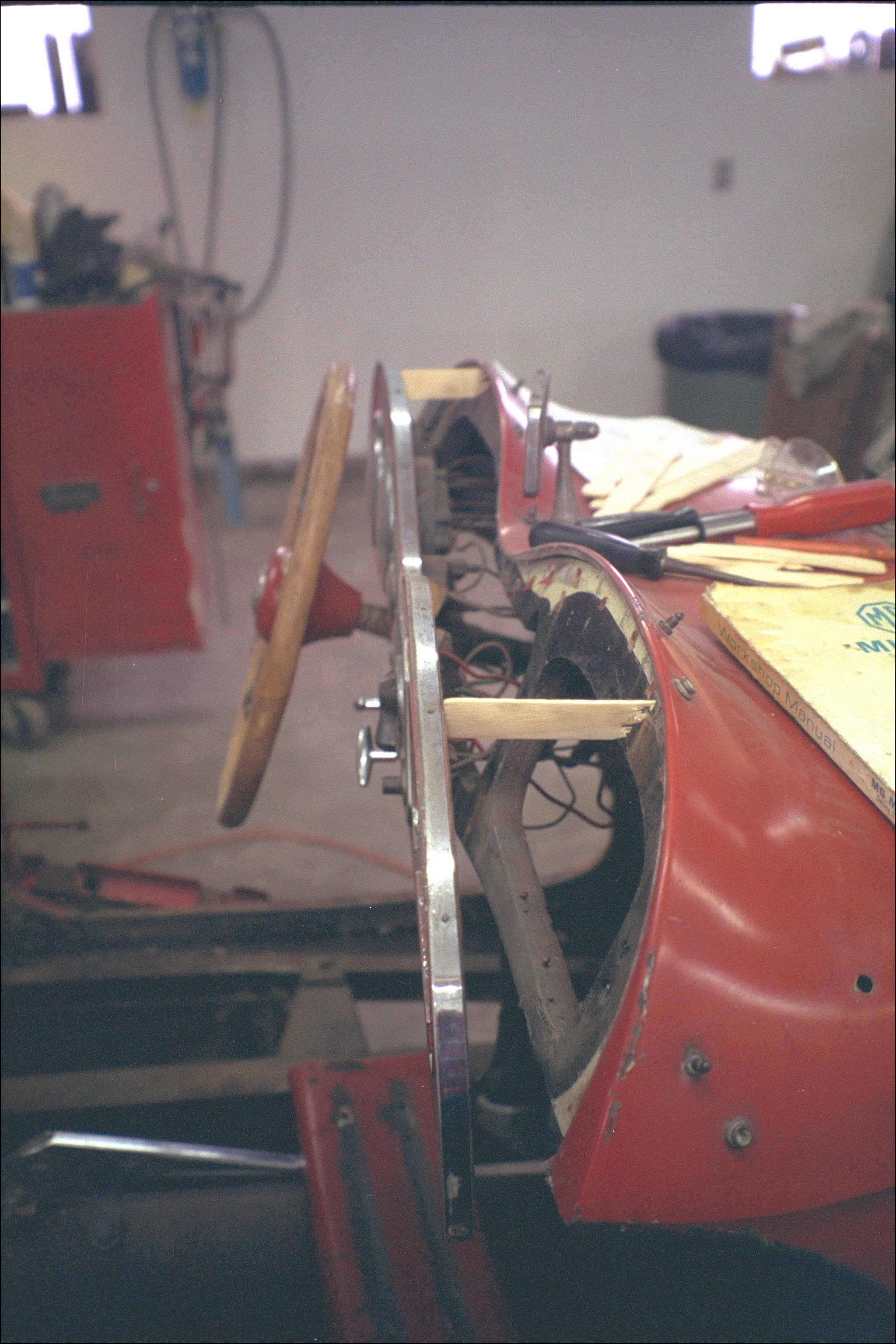 Dashboard panel, braced away from the tub