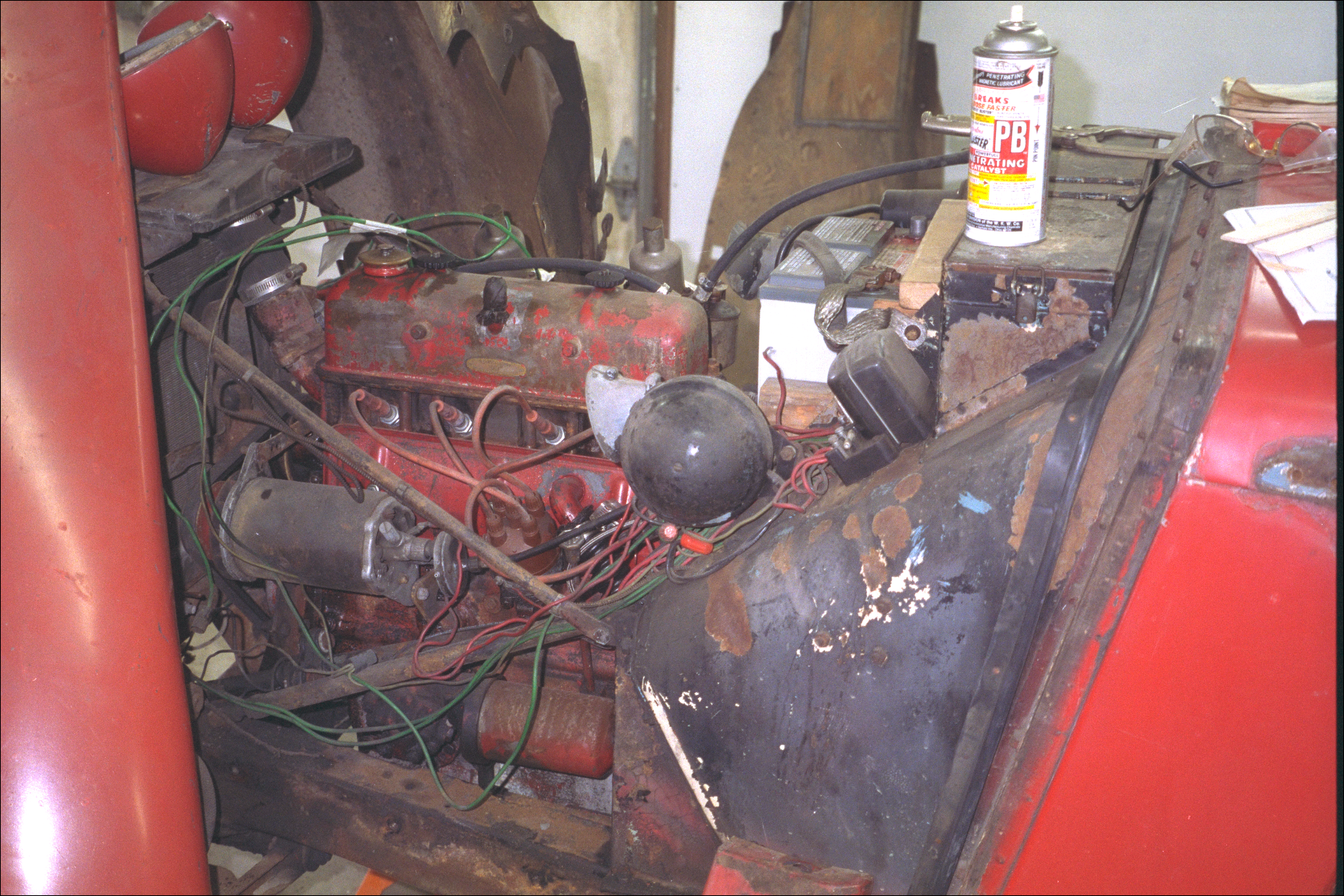 Engine compartment and wiring