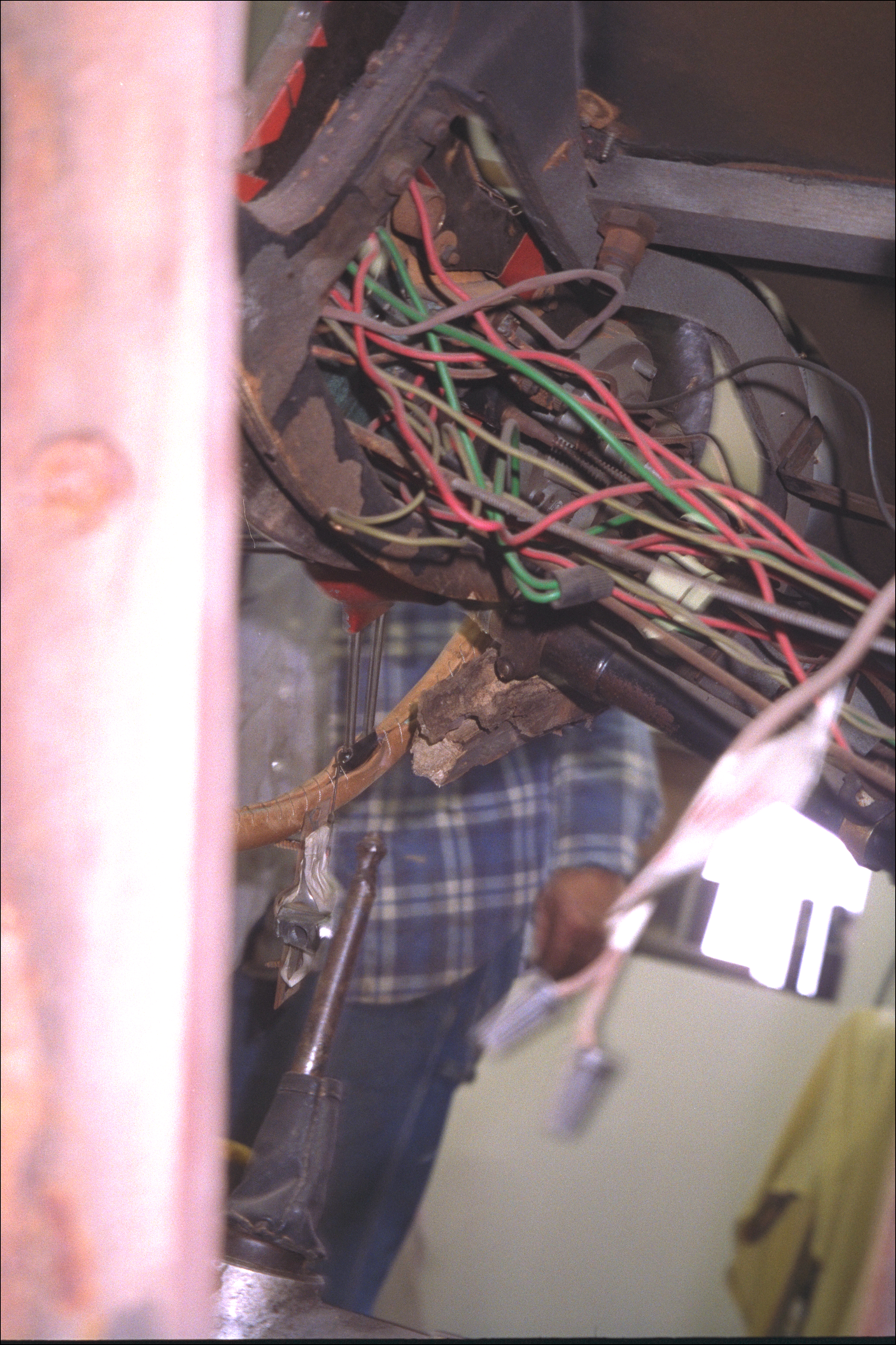 Wiring under the cowl