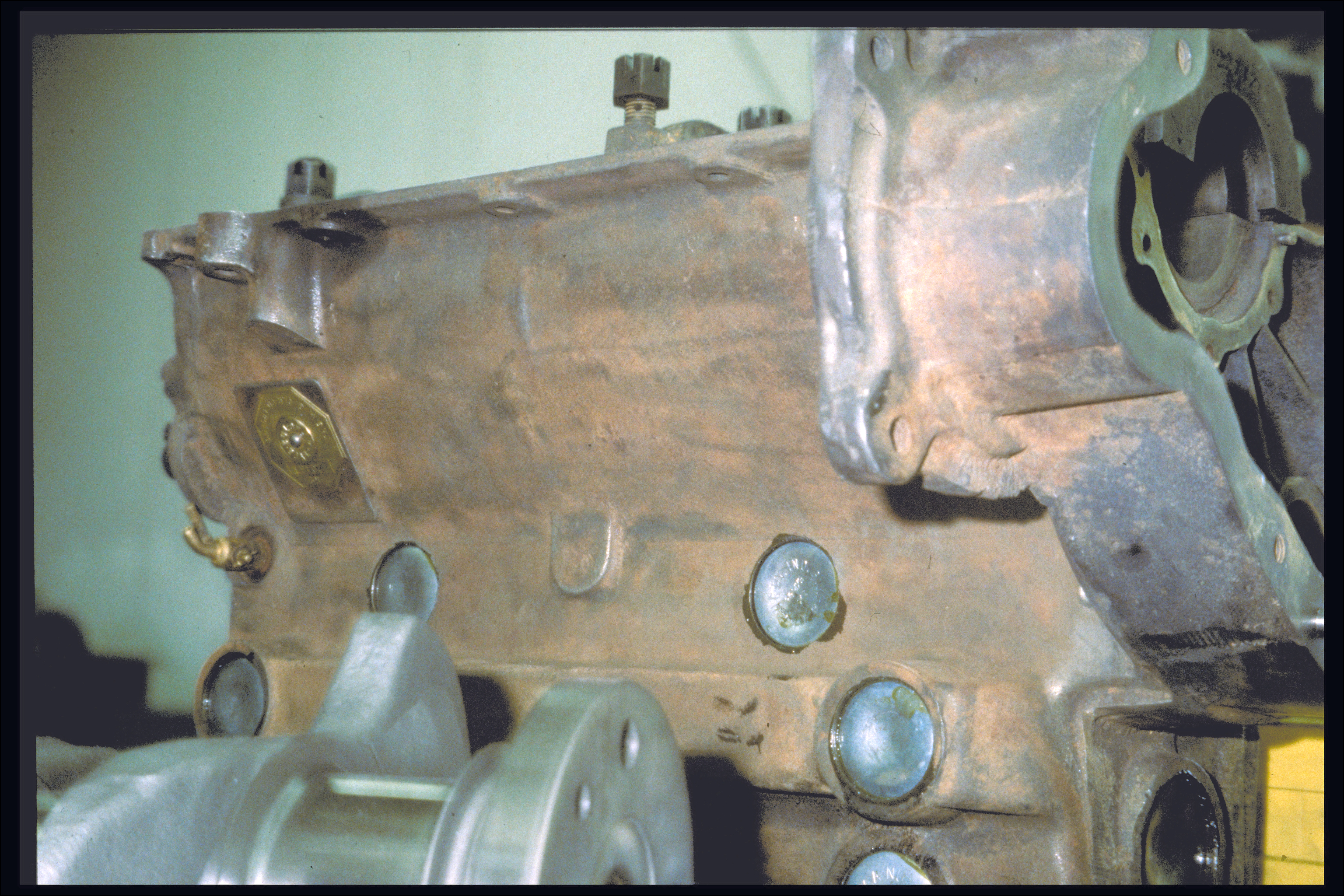 Inverted engine block, right side