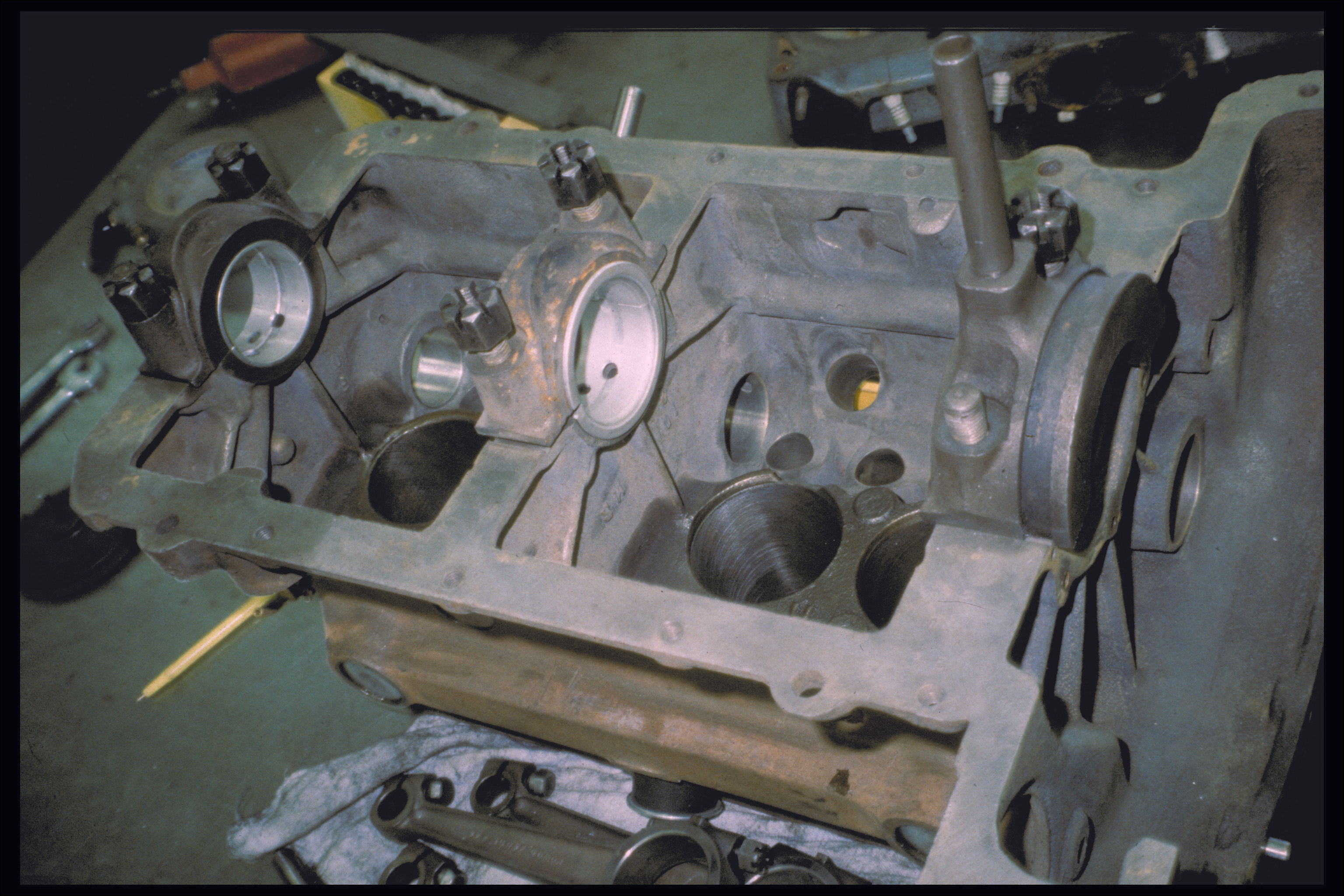 Engine block interior