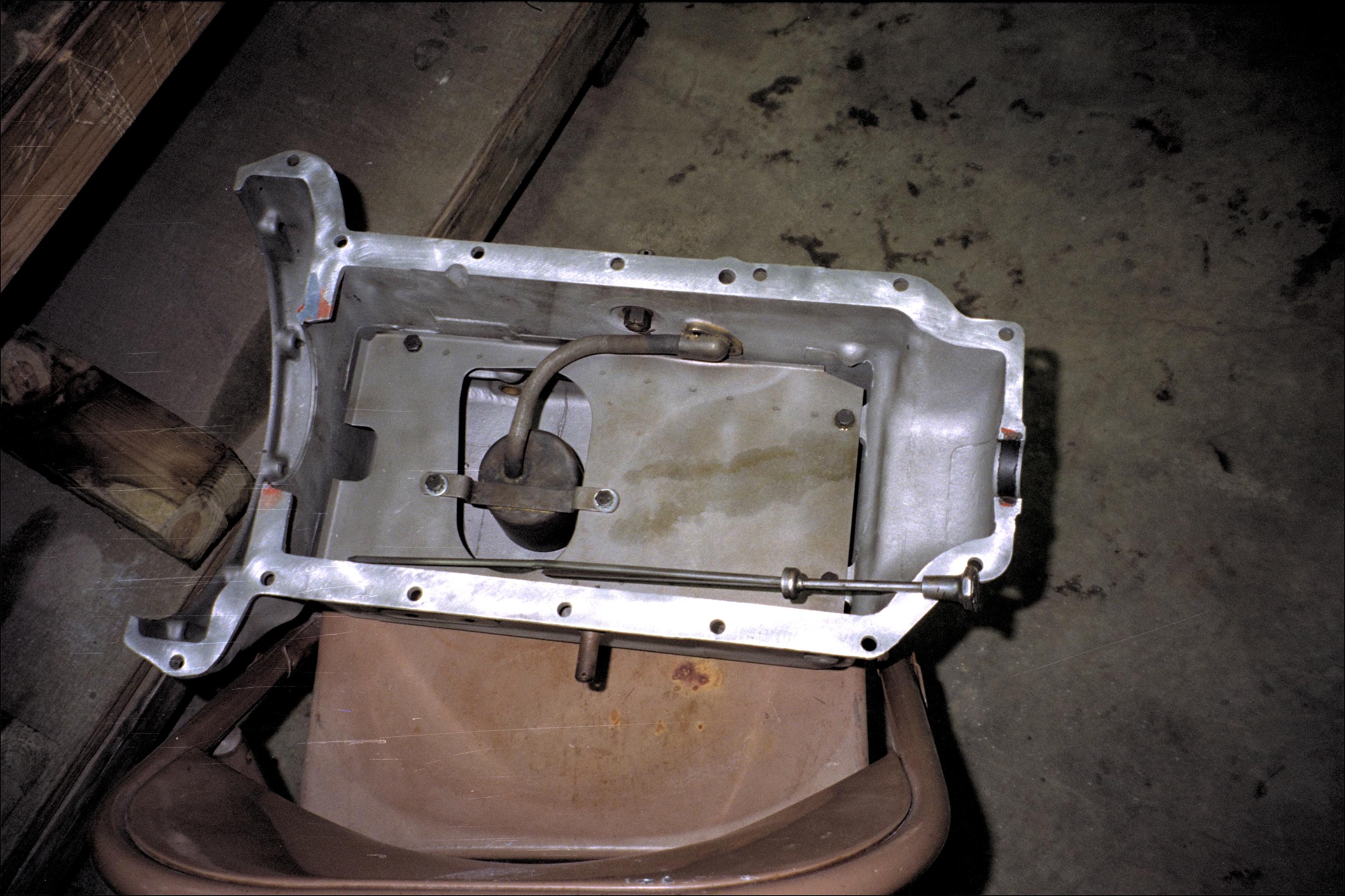 Inside the oil pan