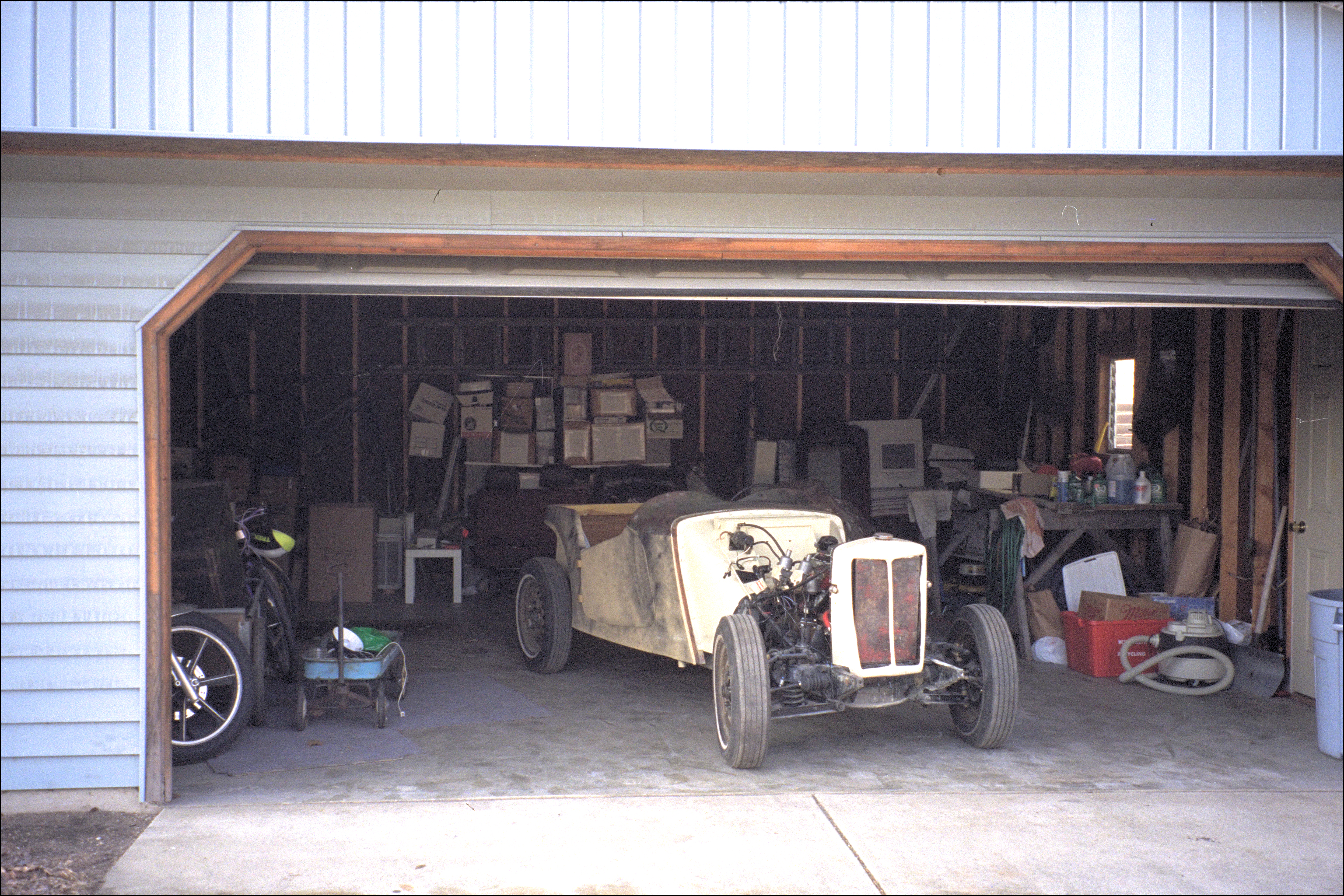 In home garage, ready to return