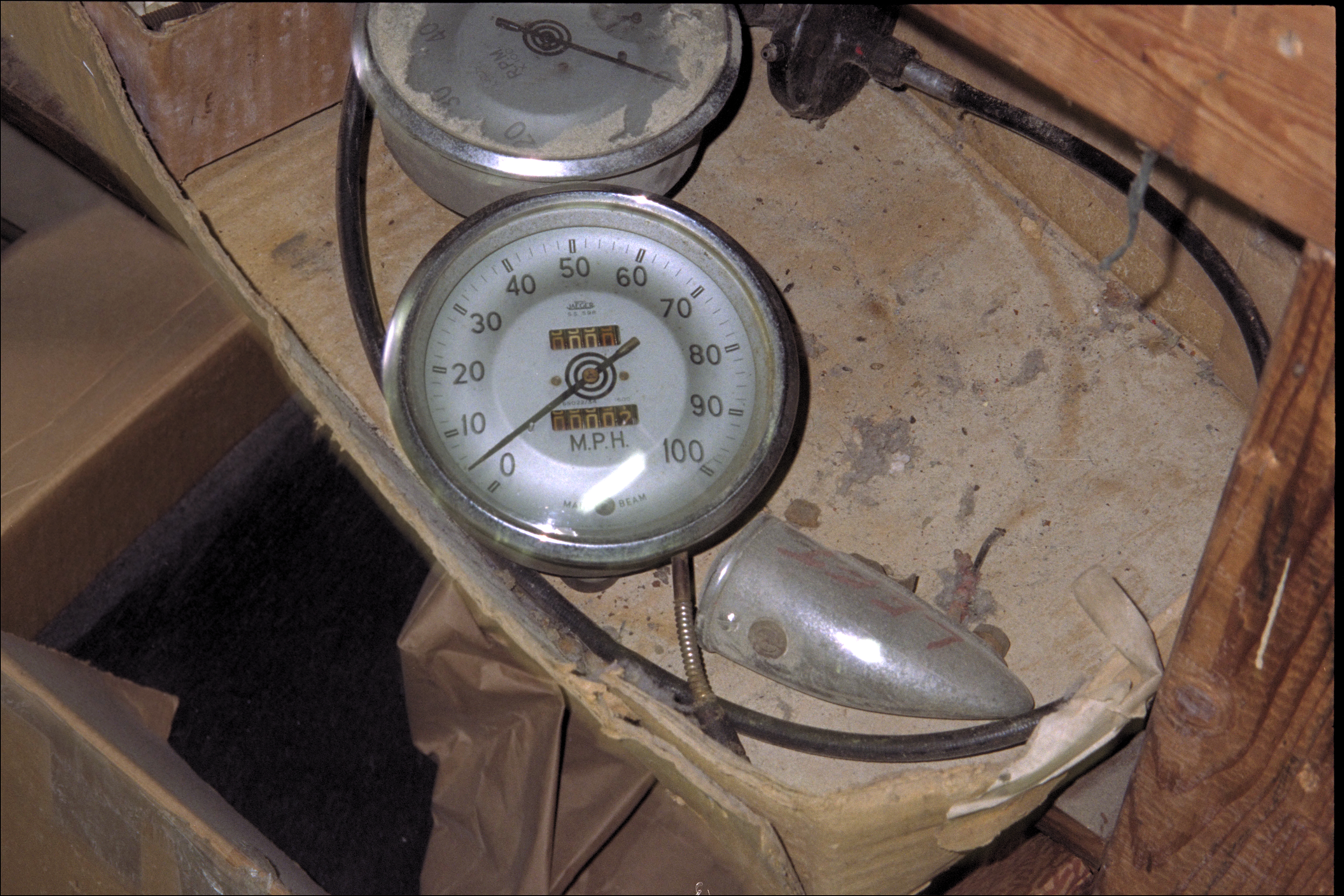 Speedometer, tach and fender lamp