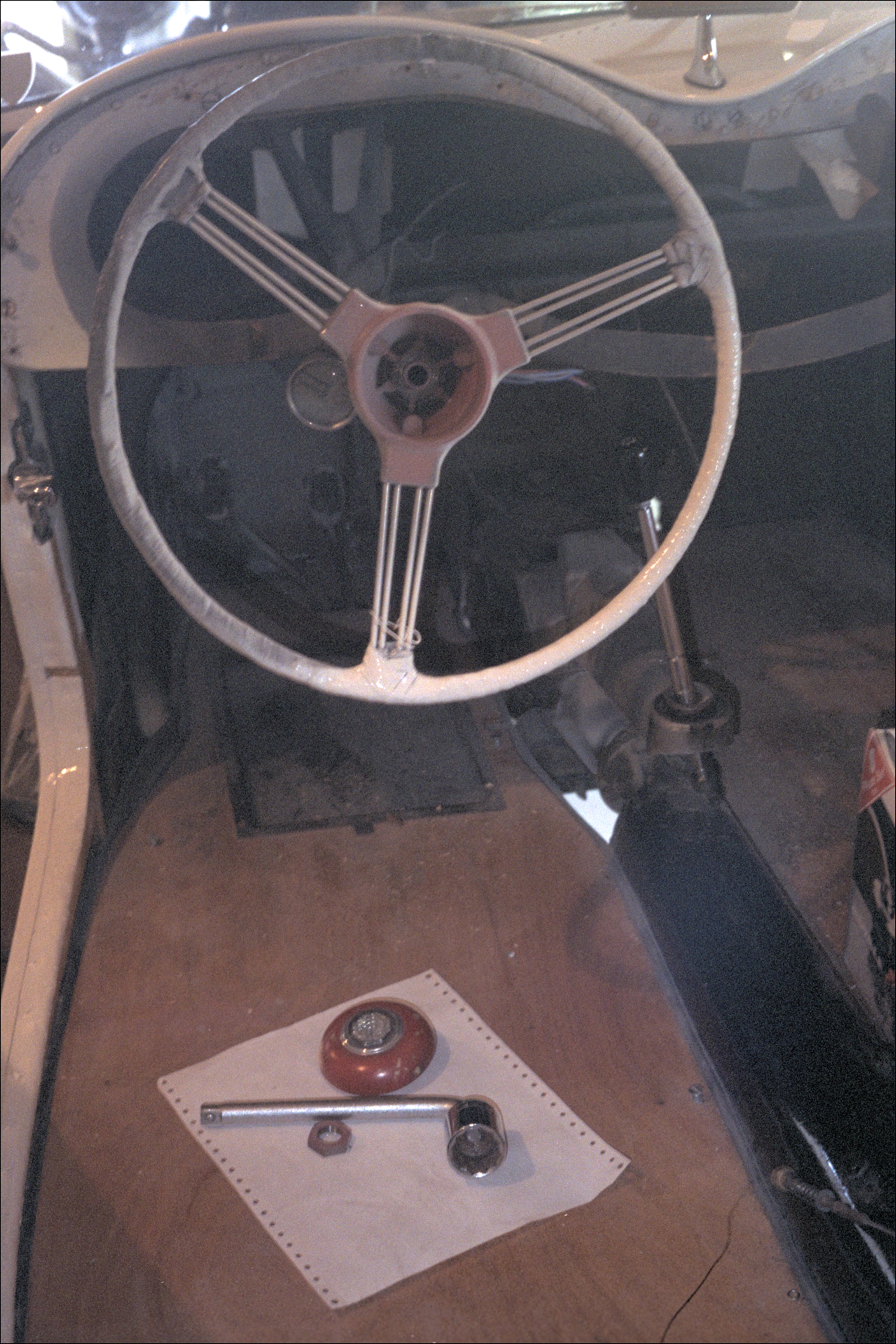 the Challenge: removing an old steering wheel