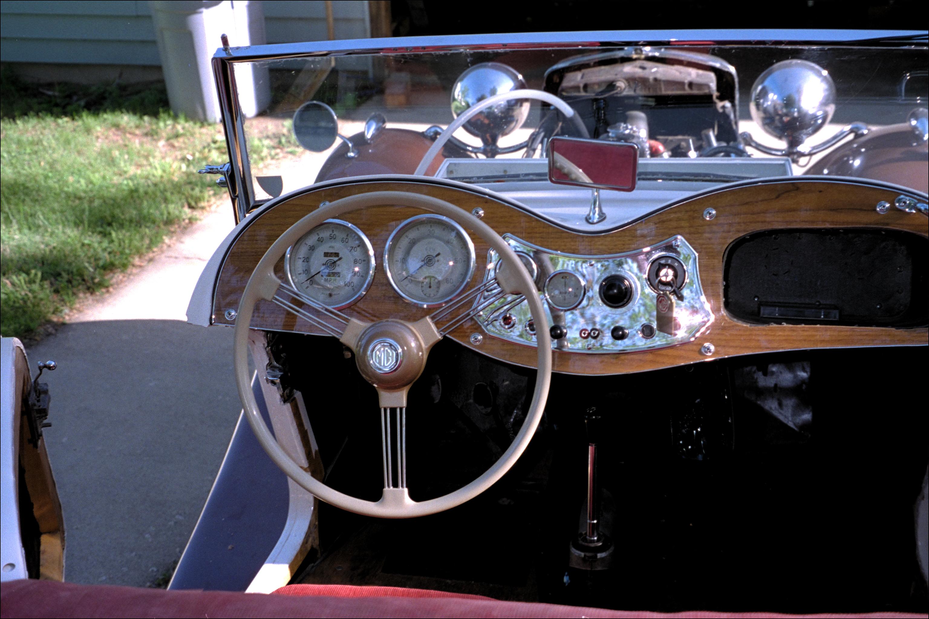The new steering wheel