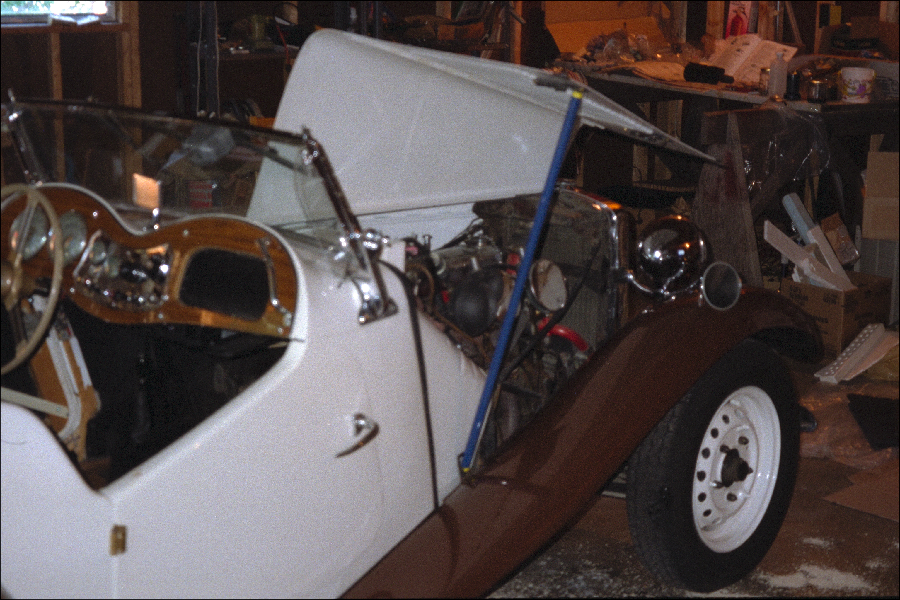 Engine compartment, from right rear